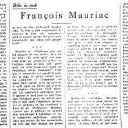 «François Mauriac»