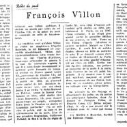 «François Villon»