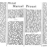 «Marcel Proust»