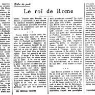 «Le roi de Rome»