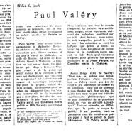 «Paul Valéry»