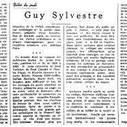 «Guy Sylvestre»