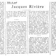 «Jacques Rivière»