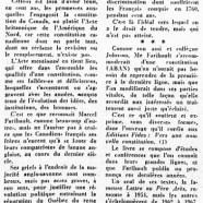 «La pensée politique de Marcel Faribault»