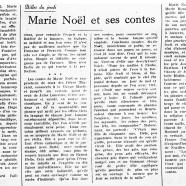 «Marie Noël et ses contes»