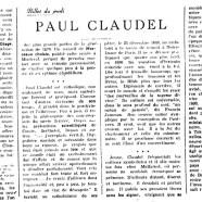 «Paul Claudel»