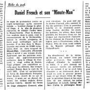 """«Daniel French et un """"Minute Man""""»"""