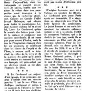 «Déjà le centenaire de Louis Le Cardonnel»