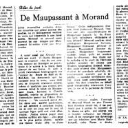 «De Maupassant à Morand»