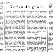 «Gamin de génie»