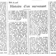 «Histoire d'un survenant»