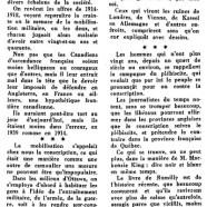 «Le Canada face à la Guerre mondiale des années 1939-1945»