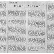 «Henri Ghéon»