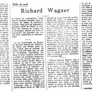«Richard Wagner»