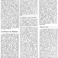 «Le Bouquet de Mélusine; Le Devoir professionnel; Vers le vrai»