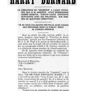 «M. Cyprien Amnotte démentit Harry Bernard»