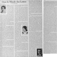 «Dans le monde des lettres: trois romans»