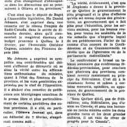 «Pas de fédéralisme vrai sans Québec, a dit Me Johnson»