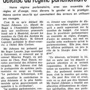 «Me Daniel Johnson prend à Montréal la défense du régime parlementaire»