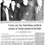 «S.E. Mgr Douville aux fêtes d'Acton Vale»