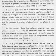 «La démission de Louis Saint-Laurent va profiter à John Diefenbaker»
