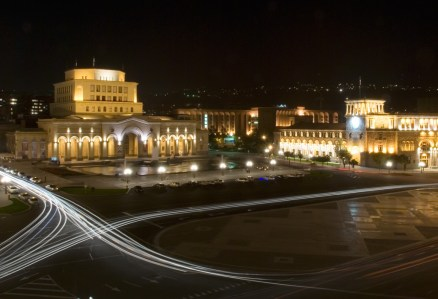 Yerevan Square Late at Night