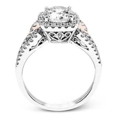 18K White and Rose Gold Engagement Ring