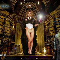 Hermione Jean Granger has just taken off her panties and she is the boss in Hogwarts!