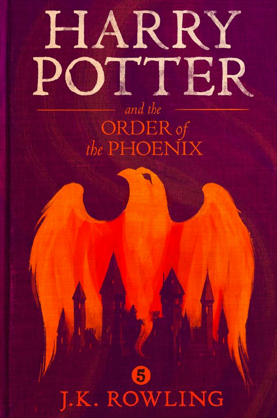 Image result for harry potter and the order of the phoenix book cover