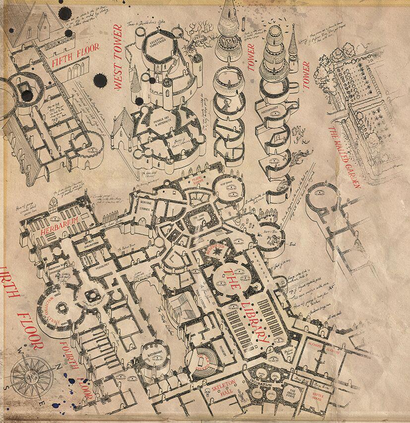 Image result for prisoner of azkaban marauders map illustrated