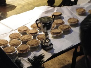 World Pie Eating Competition at Harry's Bar Wigan