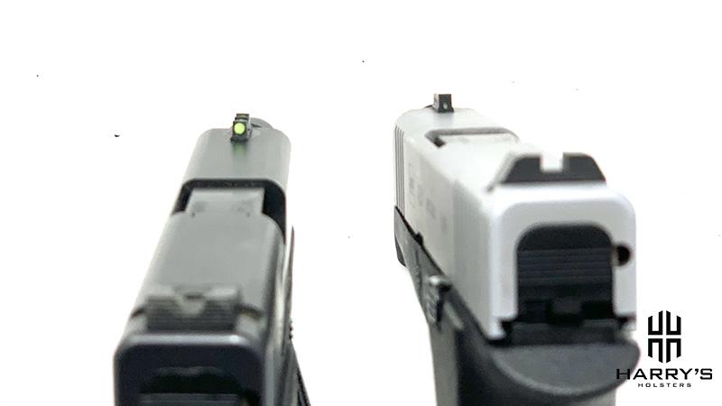Glock 43 vs Glock 43x sights