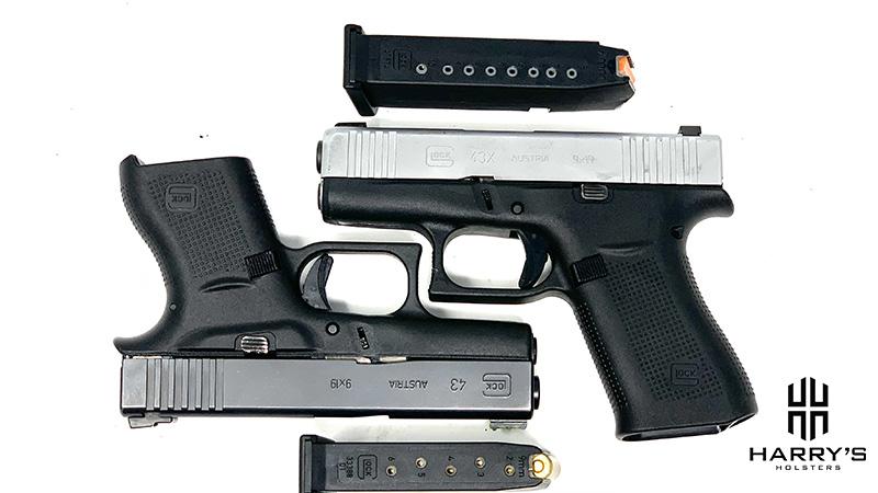 Glock 43 vs Glock 43x with magazines