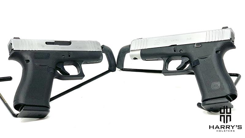 Glock 43x vs Glock 48 facing