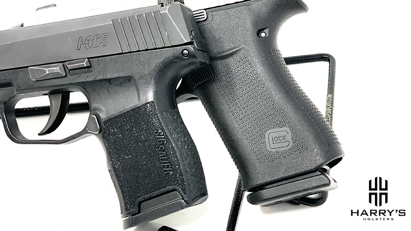 Glock 43x vs Sig P365 grips