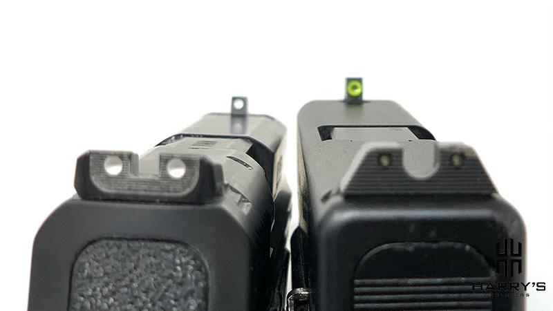 Glock 19 vs SW M_P 2.0 Compact sights