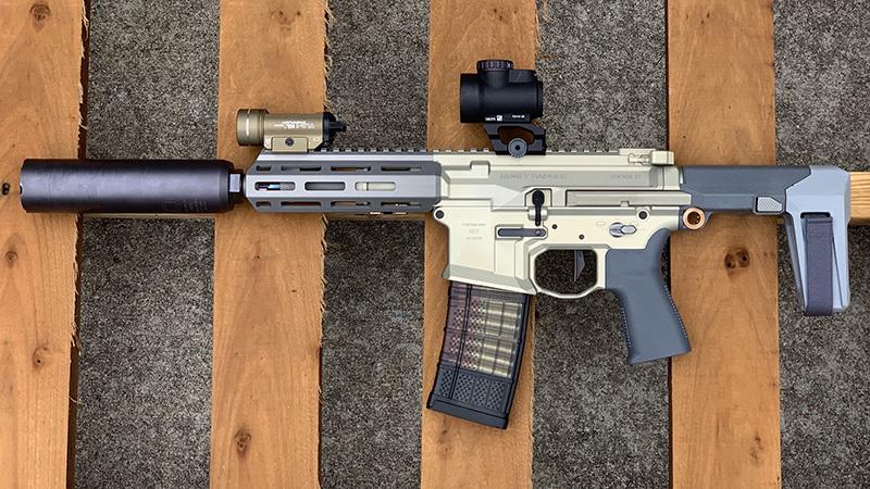 Honey Badger Pistol Left Pallet