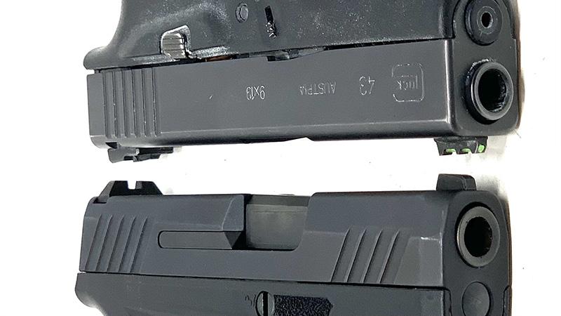 Glock 43 vs Taurus GX4 Slides
