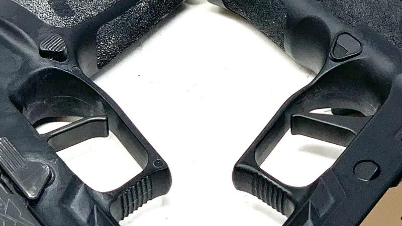 Sig P320 Flat Trigger vs Apex front faces of triggers
