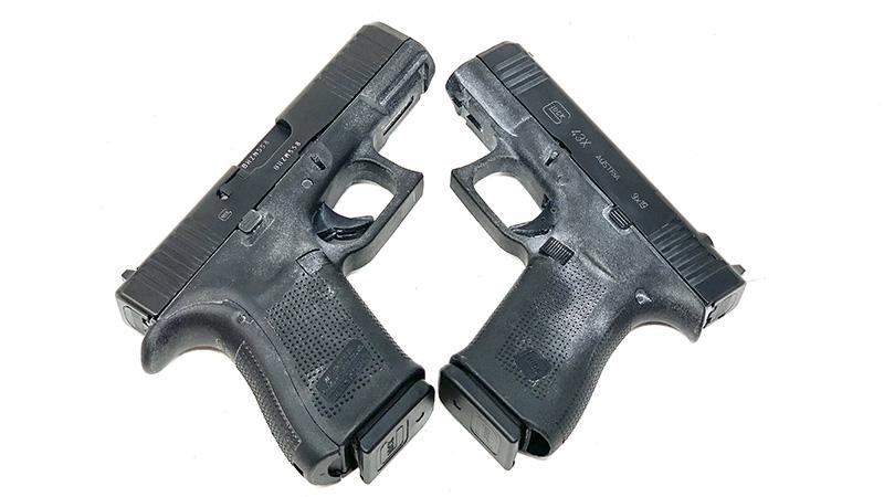 Glock 19 vs 43x X
