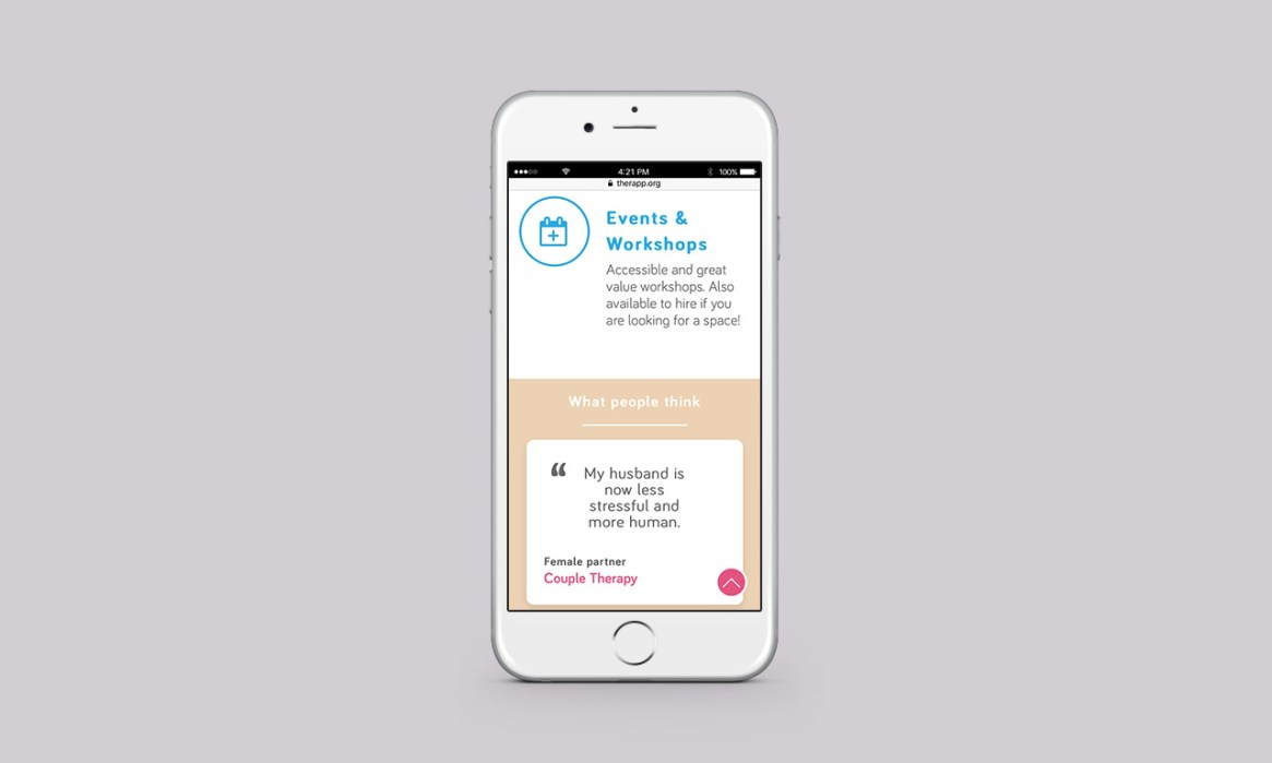 Therapy Website on mobile
