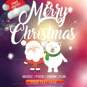 Christmas-Flyers-Template Editable download