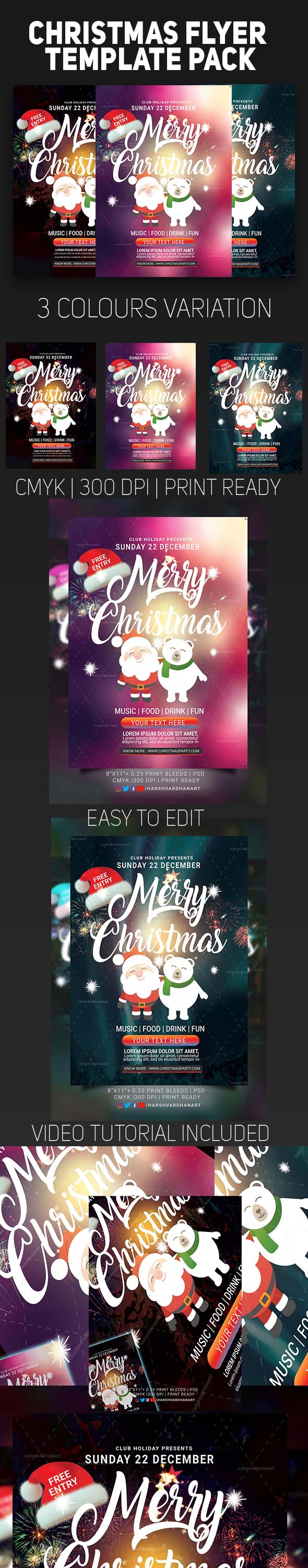 EDITABLE Christmas Flyer Template