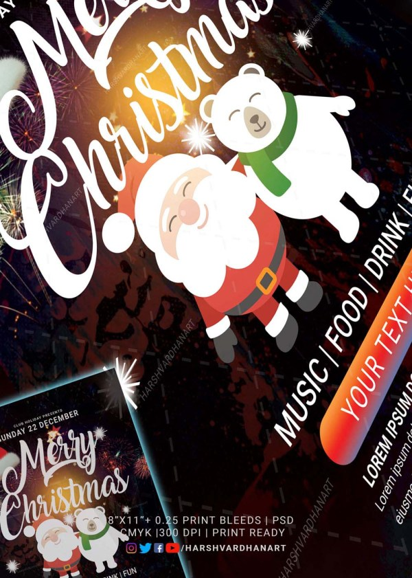 EDITABLE Christmas Flyer Template-Easy to Use and Customize 3