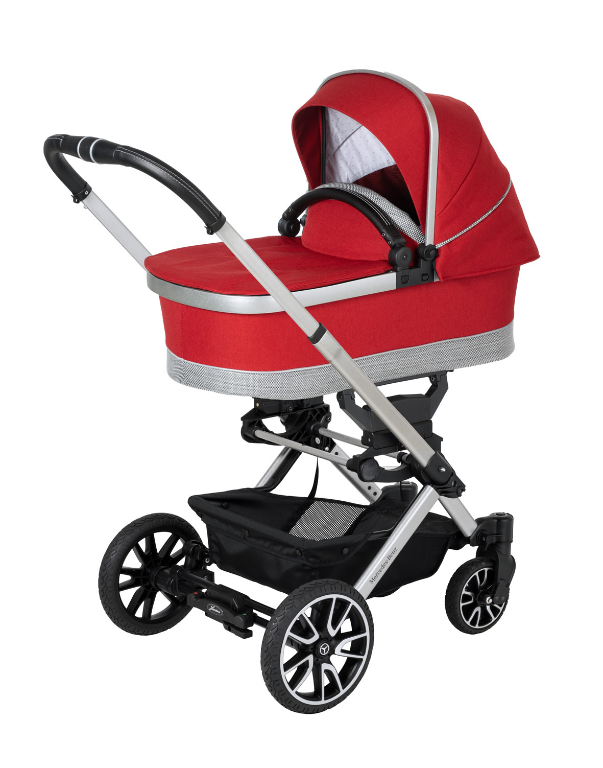 Hartan Mercedes-Benz stroller and carrycot in Hyacinth