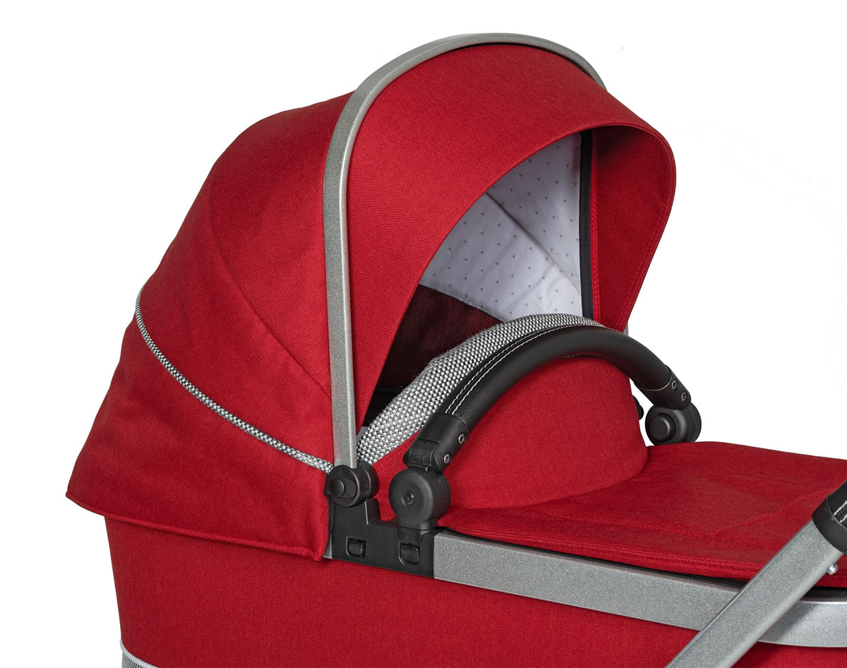 Hartan Mercedes-Benz carrycot hood detail in Hyacinth