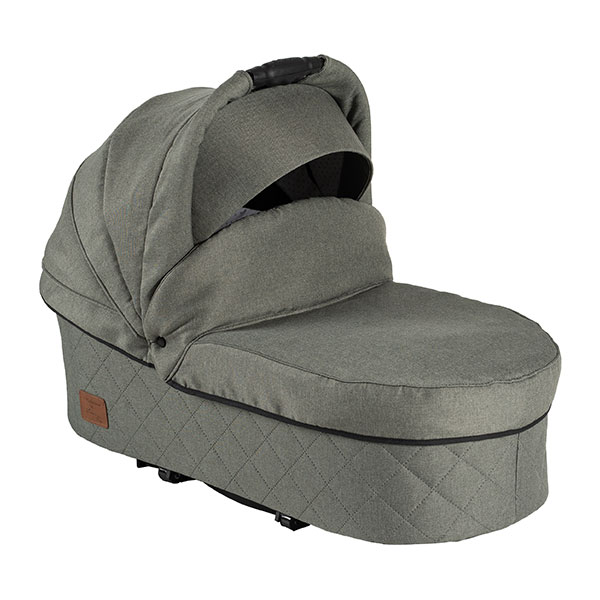 Two Select carrycot grey green