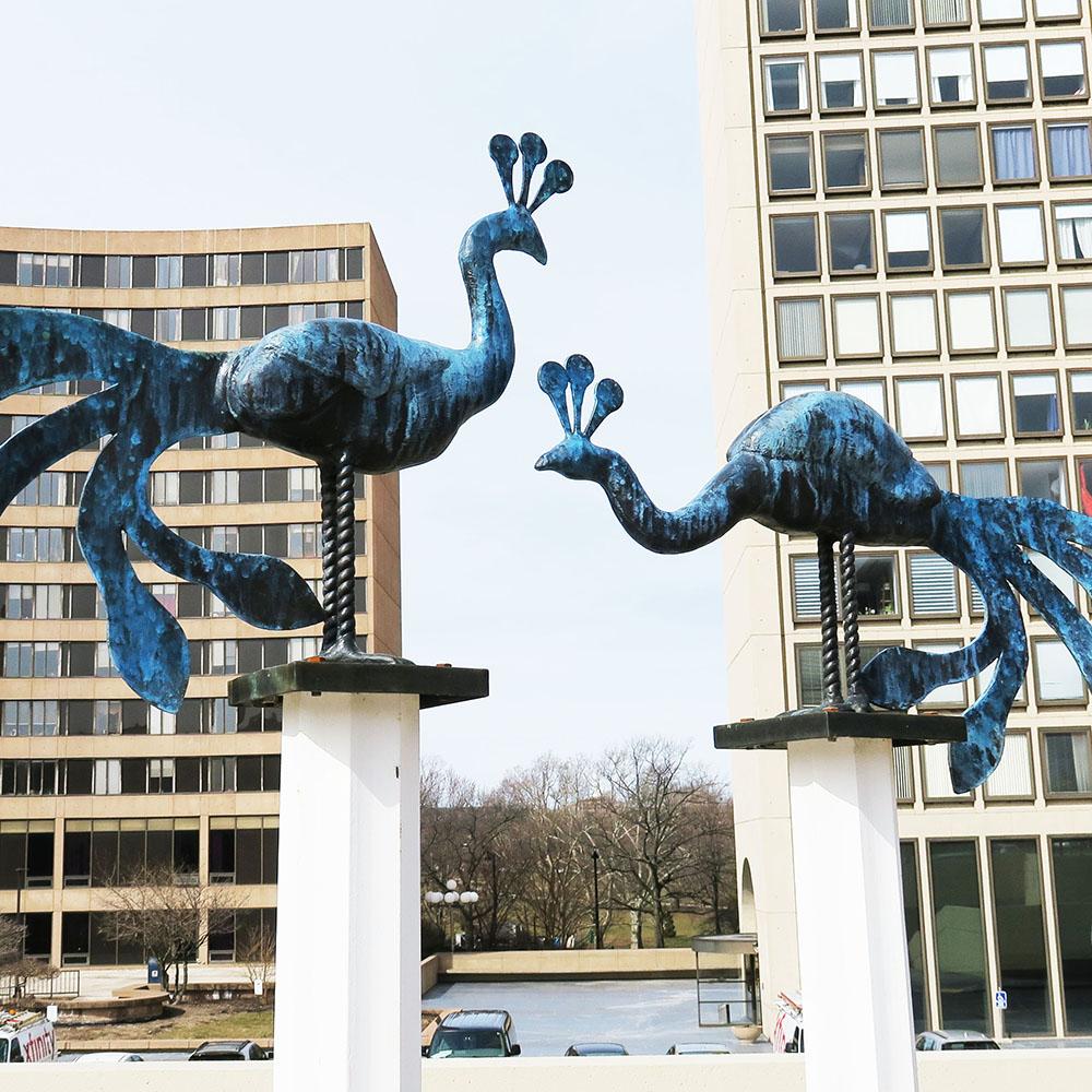 Bushnell Plaza Sculpture Garden