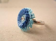 hartiutze atelier paper made inel hartie albastru bleo quilling reglabil