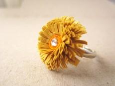 hartiutze atelier paper made inel hartie galben auriu quilling reglabil